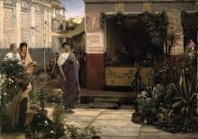 Цветочный рынок в Древнем Риме - Альма-Тадема, Лоуренс