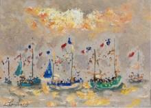 Лодки во время праздника, 1973 - Гамбург, Андре