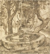 Фонтан в саду госпиталя Сен-Поль (Fountain in the Garden of Saint-Paul Hospital, 1889 - Гог, Винсент ван