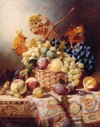 Натюрморт с корзиной фруктов на столе - Дюффилд, Уильям