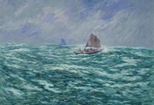 Рыбацкие лодки в бурном море - Море, Анри