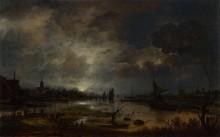 Близ города, в лунном свете - Нир, Аерт ван де