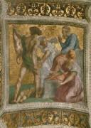 Станца делла Сеньятура: Роспись потолка (фрагмент) - Суд Соломона - Рафаэль, Санти