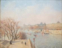 Вид на Лувр, утро - Писсарро, Камиль