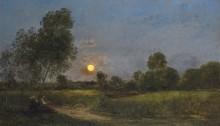 Восход луны - Добиньи, Шарль-Франсуа