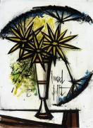 Три желтых ромашки и три зонтика - Бюффе, Бернар