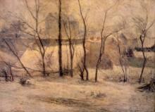 Сад под снегом, 1879 - Гоген, Поль