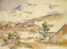 Вид на гору Сент-Виктуар из Гардана - Сезанн, Поль