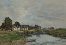 Тук, старый  порт, 1890 - Буден, Эжен