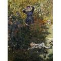 Камилла и Жан в саду в Аржантее - Моне, Клод