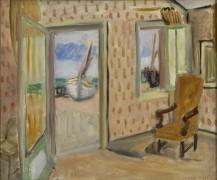 Интерьер комнаты с открытой дверью - Матисс, Анри