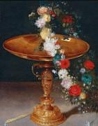 Цветочный венок на позолоченной чаше - Брейгель, Ян (младший)