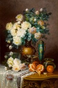 Белые розы, апельсины, и фарфоровая урна - Карлье, Макс