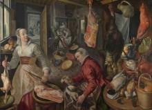Четыре стихии, огонь - Христос в доме Марфы и Марии - Бейкелар, Йоахим
