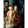 Святое Семейство с маленьким Иоанном Крестителем - Йорданс, Якоб