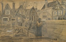 Дом матери Сиены, вид с заднего двора (Sien's Mother's House Seen from the Backyard), 1882 - Гог, Винсент ван