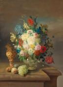 Цветочный натюрморт с фруктами - Вугер, Эдуард