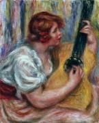 Женщина с гитарой - Ренуар, Пьер Огюст
