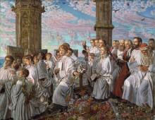 Церемония встречи месяца мая в колледже Магдалины в Оксфорде - Хант, Уильям Холман