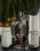 Интерьер Новой церкви в Делфте с саркофагом Вильгельма Оранского - Витте, Эмануэль де