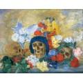 Черепа и цветы, 1909 - Энсор, Джеймс