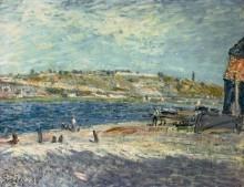 Берег реки в Сен-Мамесе - Сислей, Альфред