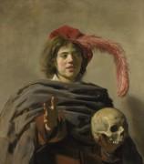 Молодой человек держит череп - Халс, Франс