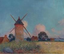 Пейзаж с мельницами -  Пюигадо, Фердинанд дю