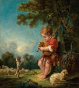 Пастушок, играющий на волынке - Буше, Франсуа