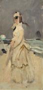Камилла Моне на пляже - Моне, Клод
