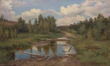Лесной пейзаж. Дорога, 1876 - Шишкин, Иван Иванович