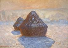 Стога, эффект замерзшего снега, 1891 - Моне, Клод