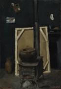 Печь в студии - Сезанн, Поль