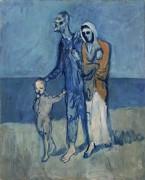 Фигуры у моря - Пикассо, Пабло