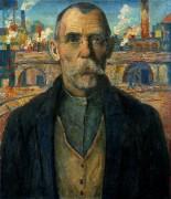 Портрет ударника (Краснознаменец Жарновский) - Малевич, Казимир
