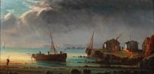 Рыболовные лодки у берега - Гюден, Анриетта Эрминия