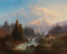 Пейзаж с горным ручьем - Барбарини, Густаф
