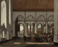 Интерьер Старой церкви в Амстердаме - Витте, Эмануэль де