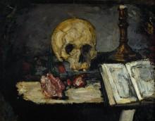 Натюрморт с черепом и подсвечником - Сезанн, Поль