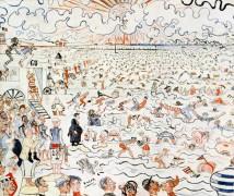Ванны в Остенде, 1890 - Энсор, Джеймс