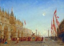 Процессия в праздник святого Георгия на площади Сан-Марко -  Зим, Феликс