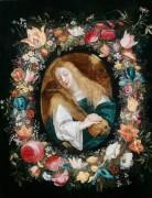 Мария Магдалина в цветочной гирлянде - Брейгель, Ян (младший)