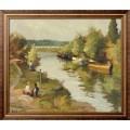 Влюбленные на берегу реки, 1955 - Диф, Марсель