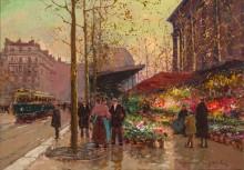 Цветочный ряд на площади Мадлен - Кортес, Эдуард