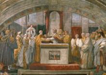 Станца Пожар в Борго: Присягаа папы Льва III - Рафаэль, Санти