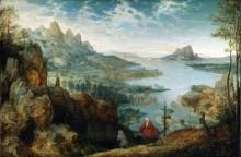 Пейзаж с бегством в Египет - Брейгель, Питер (Старший)