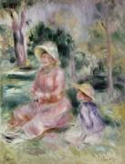 Мадам Ренуар с сыном Пьером - Ренуар, Пьер Огюст