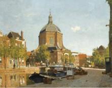 Фигуры на канале возле Марикерк, Лейден, 1923 - Вреденбург, Корнелис
