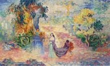 Дама в парке, 1909 - Кросс, Анри Эдмон