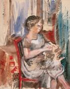 Женщина, шьющая платье - Дюфи, Жан